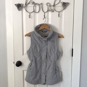 Beautiful Heather Gray North Face Vest